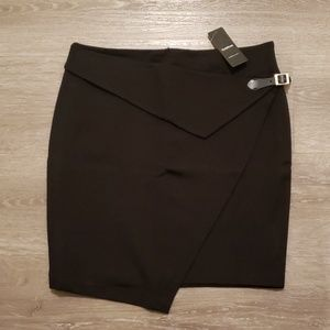 bebe Ponte Wrap Around Mini Skirt M